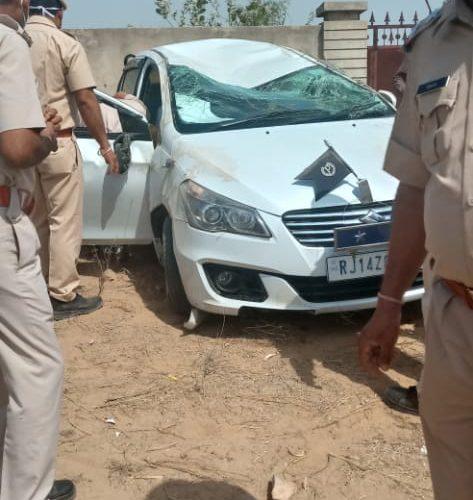 नागौर – अजमेर रेंज आईजी एस सेगाथिर सड़क दुर्घटना में हुए घायल, स्कूल बस को बचाने पर हुआ हादसा
